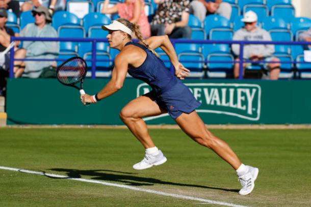 After a poor 2017, former finalist Angelique Kerber is putting together a solid 2018 season (Action Plus/Hongbo Chen)