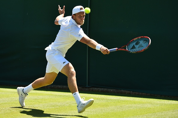 Denis Kulda fighting back to send the match to a fourth set (Photo: Glyn Kirk/Getty Images)