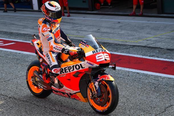 Lorenzo saliendo de pit lane en los test. Imagen: MotoGP