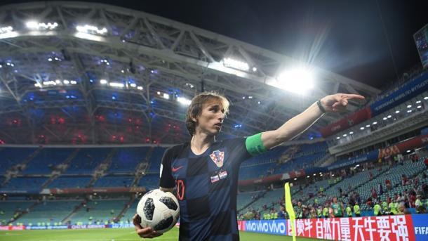 Luka Modric , celebrando la clasificación a la semifinal | Foto: FIFA