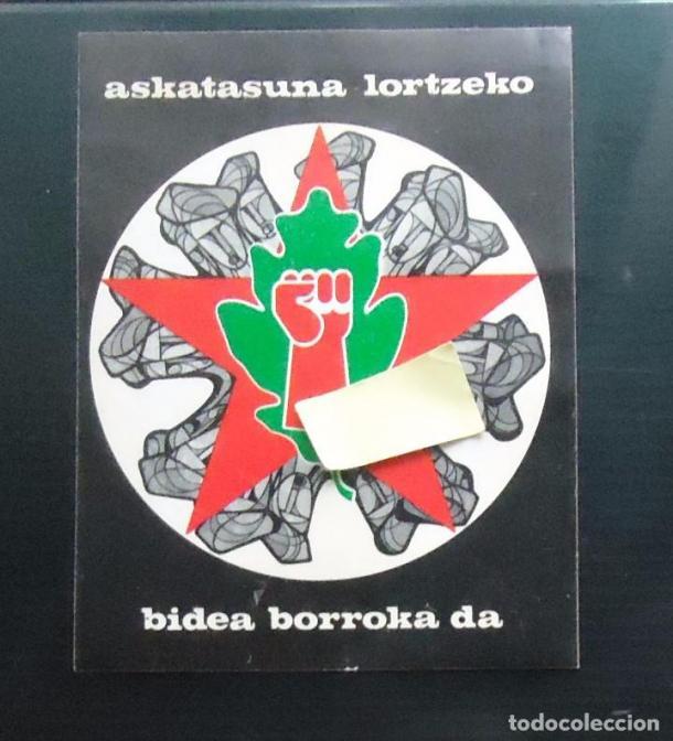 Pegatina del partido Herri Batasuna| Imagen: Todocolección