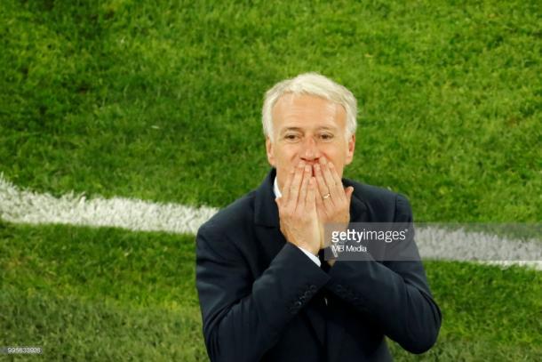 Didier Deschamps muy contento tras la clasificación a la gran final | Foto: Getty Images