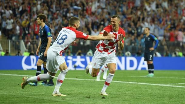 Ivan Perišić brought Croatia back level in the first half | Source: Getty Images via FIFA.com