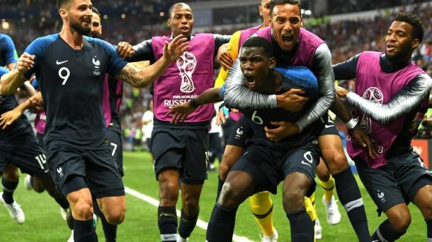 Paul Pogba scored what turned out to be the game-winning goal for France | Source: Getty Images via FIFA.com