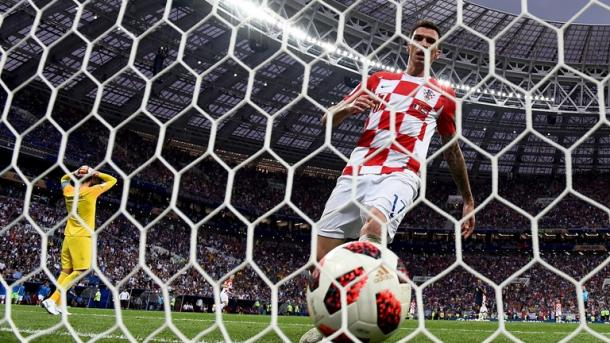 Mario Mandžukić scored a lucky goal but Croatia could not build from it | Source: Getty Images via FIFA.com