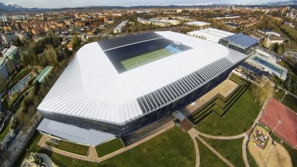 Fotomontaje del aspecto del estadio de Mendizorroza, con el proyecto MENDIBERRIA. Fuente: deportivo alavés