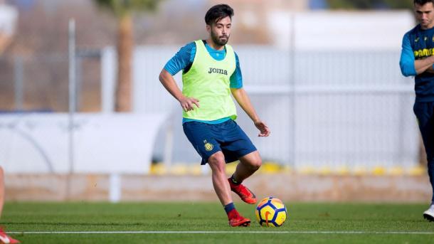 Jaume Costa durante un entrenamiento | Villarreal CF