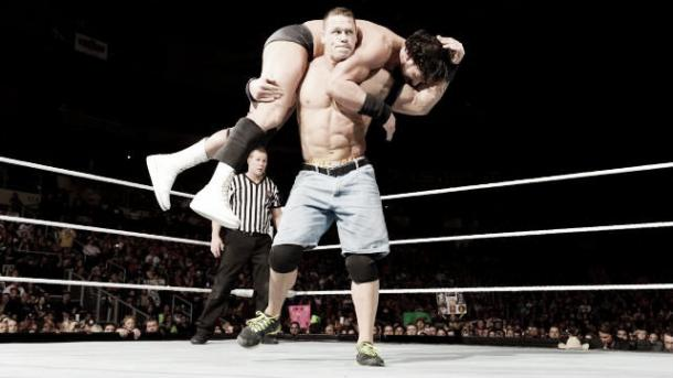 Cena put an end to Sandow's title hopes. Photo: