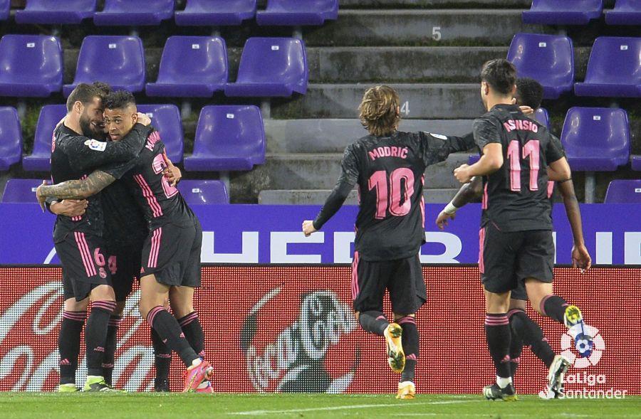 Casemiro adelantó a los suyos en el José Zorrilla | Fuente: LaLiga.es