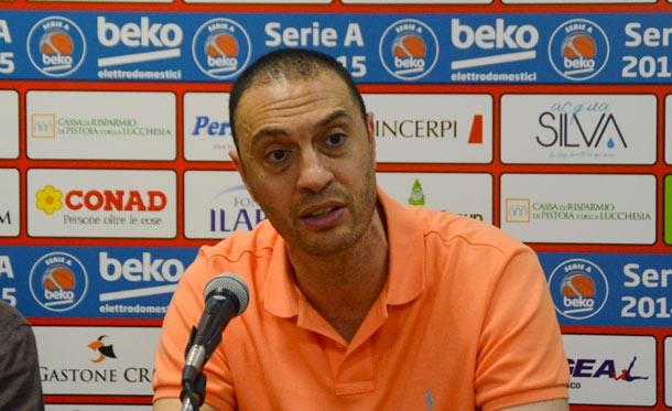 Vincenzo Esposito, coach di Pistoia. Fonte foto: pistoiasport.com