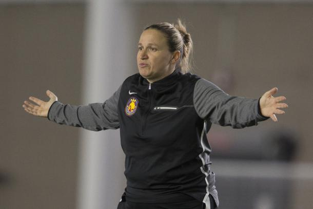 Laura Harvey upset with referees in the league | Photo: Spenser Heaps, Deseret News
