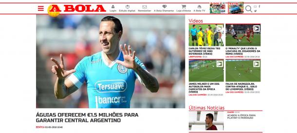 La portada del diario A Bola