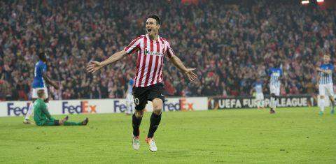 Aduriz, anotó 5 goles en San Mamés en la UEL | Foto: Web oficial del Athletic Club