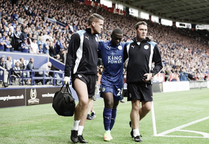 Mendy had to be substituted off | Photo: Leicester City