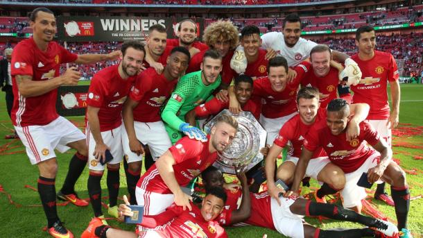United picked up the first silverware on offer in England this season in the shape of the Community Shield | Photo: manutd.com