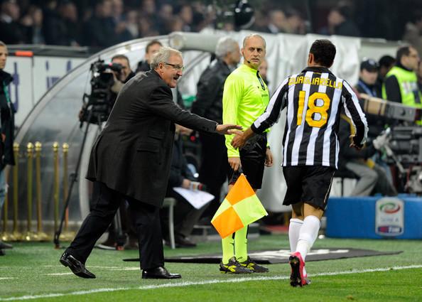Del Neri alla Juventus con Quagliarella | Foto: zimbio