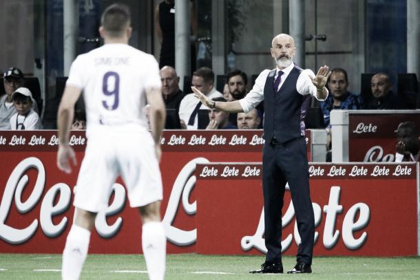 Stefano Pioli pide tranquilidad a sus dirigidos | Foto: AFC Fiorentina