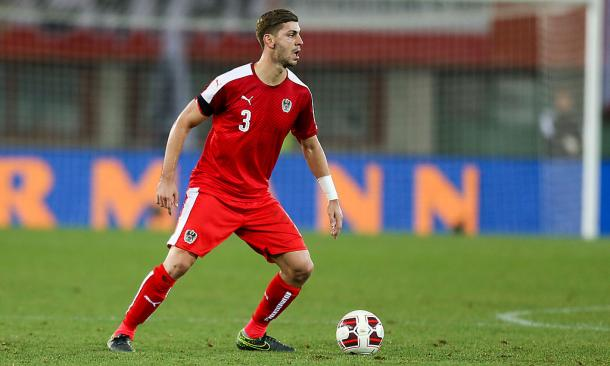 Dragovic in action for Austria. | Image source: Die Presse