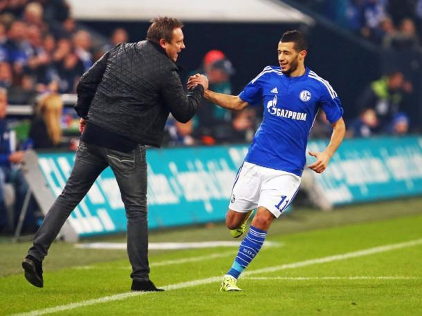 Schalke couldn't keep hold of Belhanda's first half goal. Image via Kicker.de