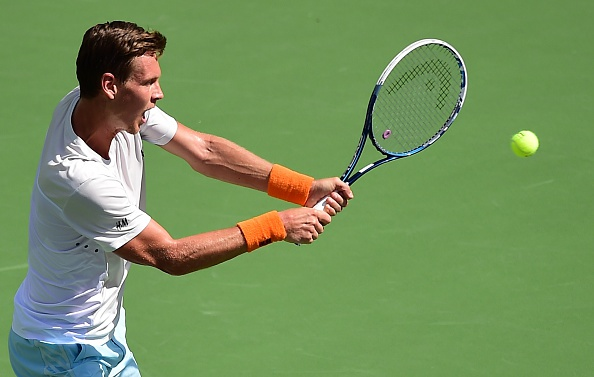 Berdych in action when the two previously met (Getty Images/AFP/Frederic  J Brown)