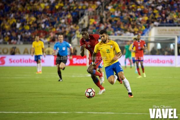 Gabriel was terrific for Brazil. (Photo credit: Alex Olivera/VAVEL USA)