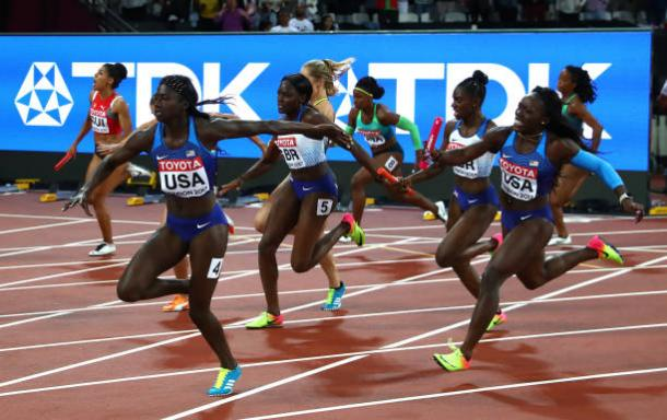USA Wins Gold in Women's 4x100m Relay