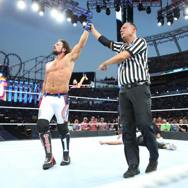 AJ Styles defeated Shane McMahon in Vavel's match of the night (image: wwe,com)
