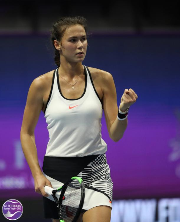 Vikhlyantseva's rise all started in St. Petersburg, where she reached the semifinals | Photo: St. Petersburg Ladies' Trophy