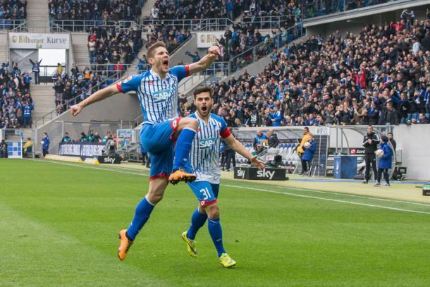 Kramaric celebrates. | Image source: TSG 1899 Hoffenheim