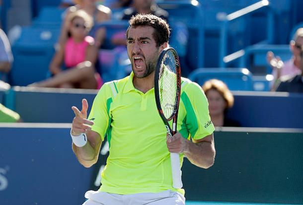 Cilic celebrates his victory over Andy Murray last summer (Getty/Andy Lyons)