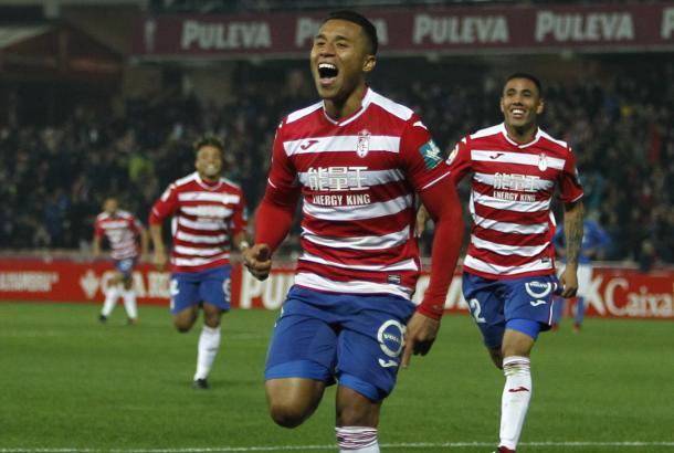 Celebración del Machis en el segundo gol. Foto: Antonio L Juárez