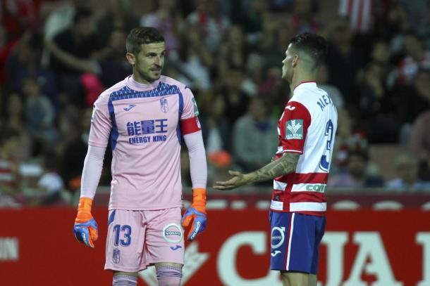 Javi Varas junto a Alex Martinez en la temporada pasada. Foto: Antonio L. Juarez