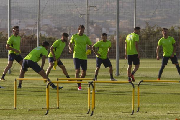 Primer entrenamiento del Granada. Foto: Antonio L. Juárez