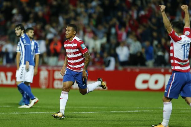 Machís celebra su gol   Foto: Antonio L. Juárez