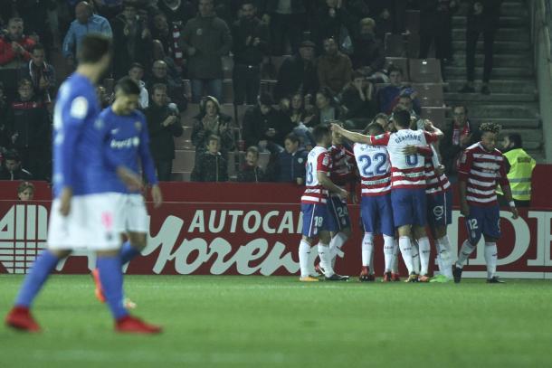 Primer gol del Granada CF. Foto: Antonio L Juárez