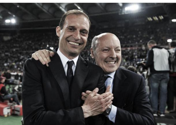Allegri e Giuseppe Marotta, direito esportivo do clube (Foto: Divulgação/Juventus FC)