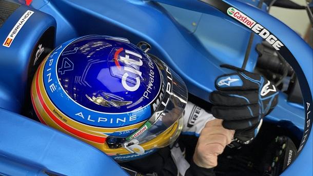Fernando Alonso en la jornada de hoy. Fuente: Alpine