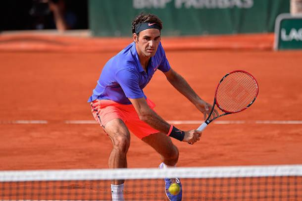 Roger Federer in action at the French Open in 2015, which is currently the last time he played at the tournament (Getty/Aurelien Meunier)