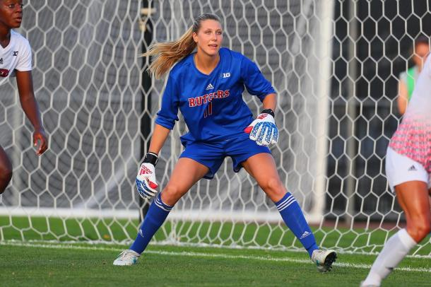 Casey Murphy during her Rutgers days | Source: Rich Graessle-The Scarlet Knights