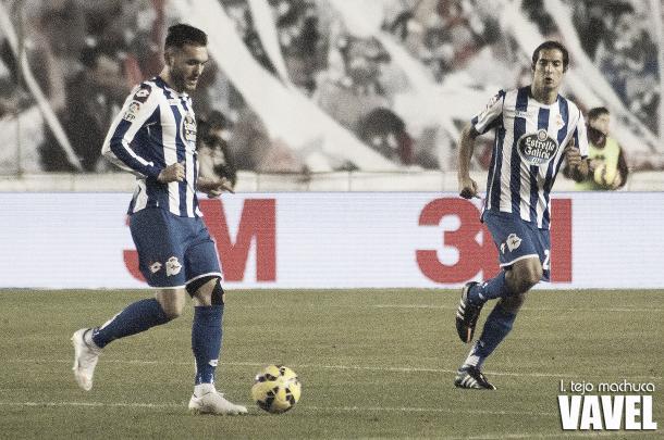 Lucas y Celso en el partido ante Las Palmas. Foto: I. Tejo. Machuca (VAVEL).