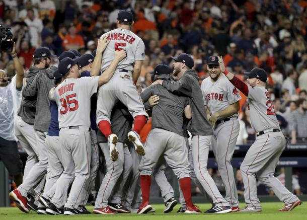 Boston dominated Houston in the ALCS to reach their first World Series since 2013/Photo: David J. Phillip/Associated Press