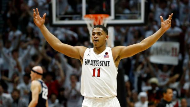 Mitchell is one of four San Diego State players to average in double figures/Photo: Gregory Bull/Associated Press
