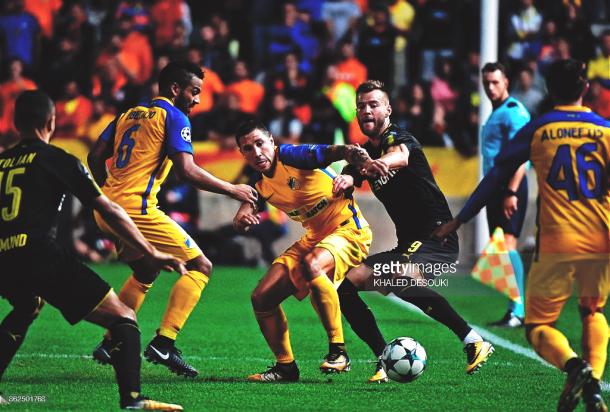 Último enfrentamiento entre APOEL y Borussia Dortmund. Foto: Getty Images