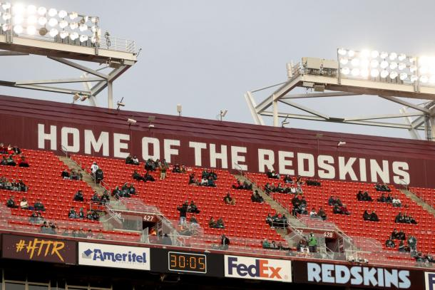 Fans in the stands at FedEx Field in Landover, Maryland | Photo: Andrew Harnik/AP