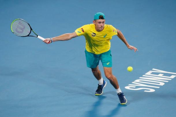 De Minaur in action at last week's ATP Cup/Photo: Associated Press