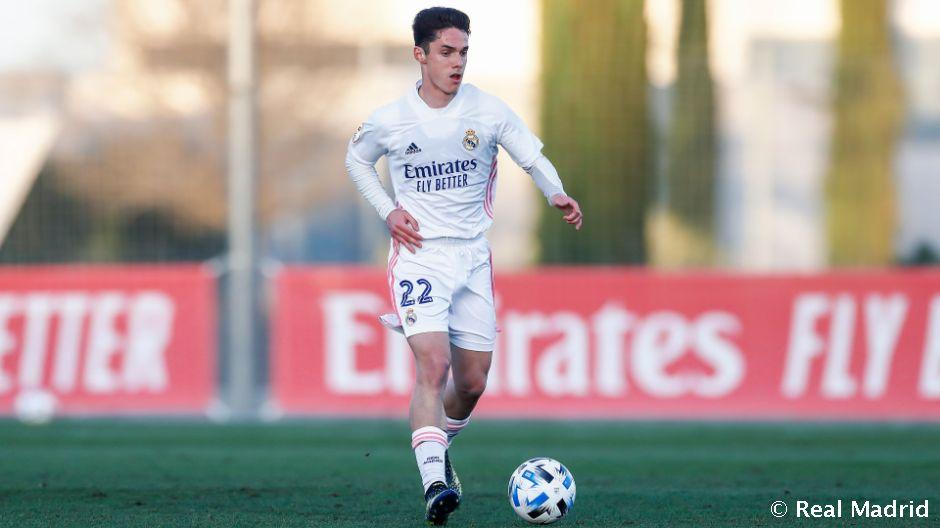 Arribas, en un partido de esta temporada con el Castilla. Fuente: Real Madrid