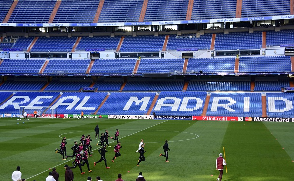 AS Roma train at Real Madrid's iconic stadium | Photo: AFP