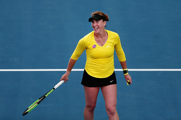 Brengle reacts after winning the match | Photo: Anthony Au-Yeung/Getty Images AsiaPac