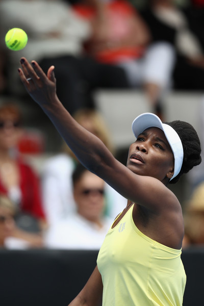 Williams serving in the match | Photo: Phil Walter/Getty Images AsiaPac