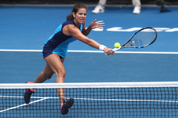 Goerges hits a volley | Photo: Phil Walter/Getty Images AsiaPac